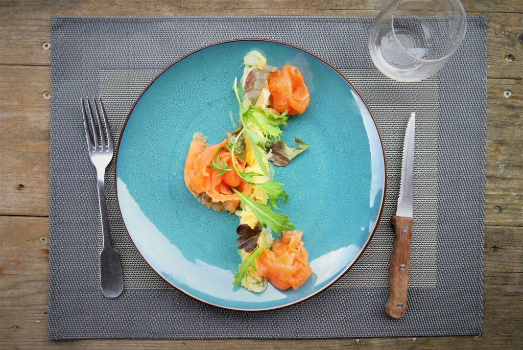 Truite fumée maison the black duck dordogne périgord saint crépin carlucet restaurant sarlat montignac